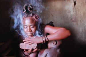 Himbas en Namibia